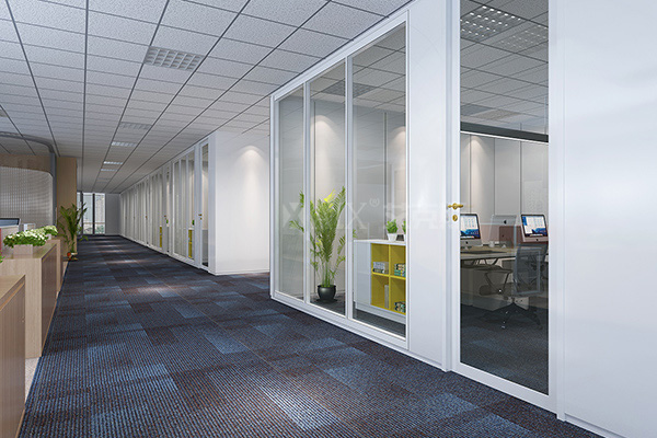 Belem Textile Double Glass Partition